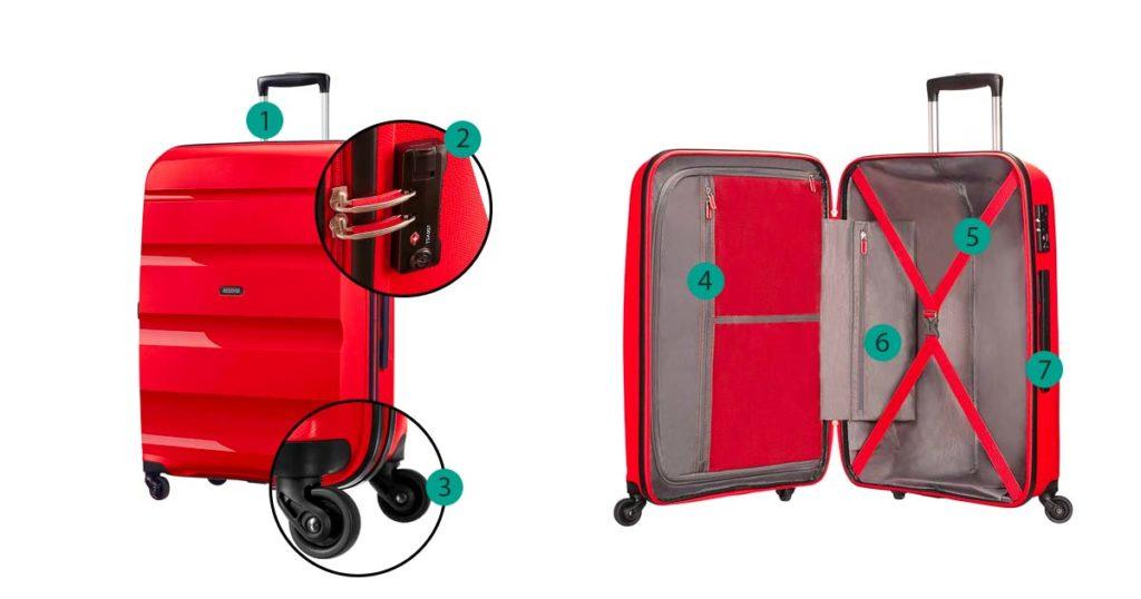 fonctionnalité de la valise american tourister bon air