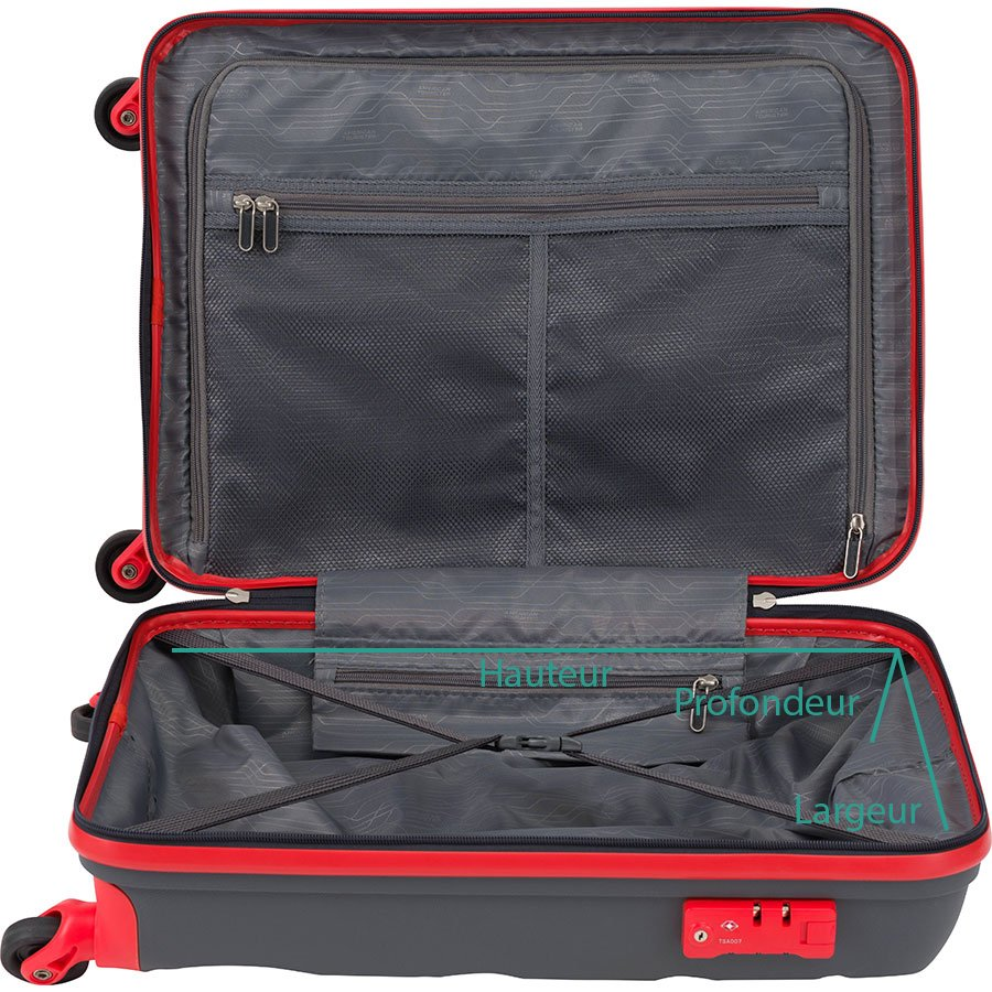 Mesure de la taille interne d'une valise