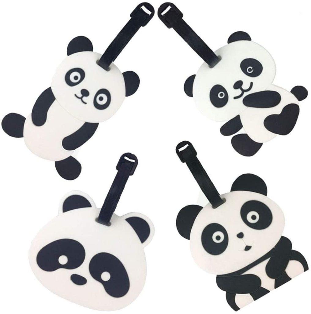 porte etiquette avion panda