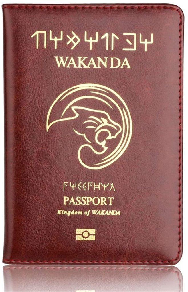 protège passport wakanda brun