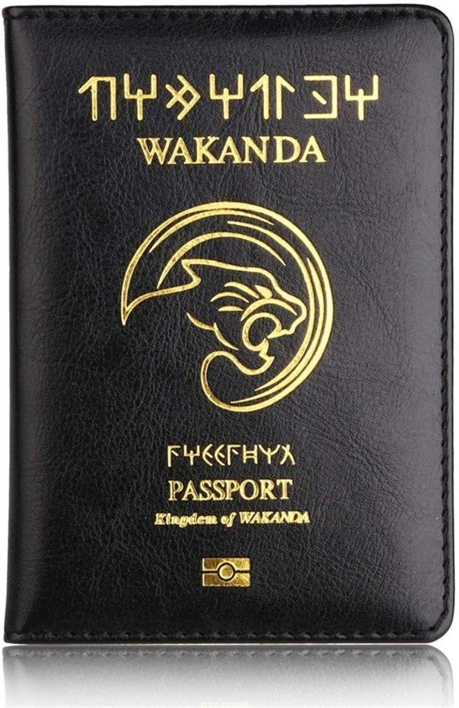 protège passport wakanda noir